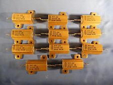 11 X Dale RH-25 Wirewound Resistor 500 Ohm 25W 3% Precision (Big Lot!) NOS