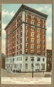 New York/ Bible Teachers Training School/ bldg/  non-linen postcard