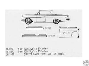 Chevrolet Chevy Biscayne Bel Air Impala Front Quarter Panel Right 63,64 Schott