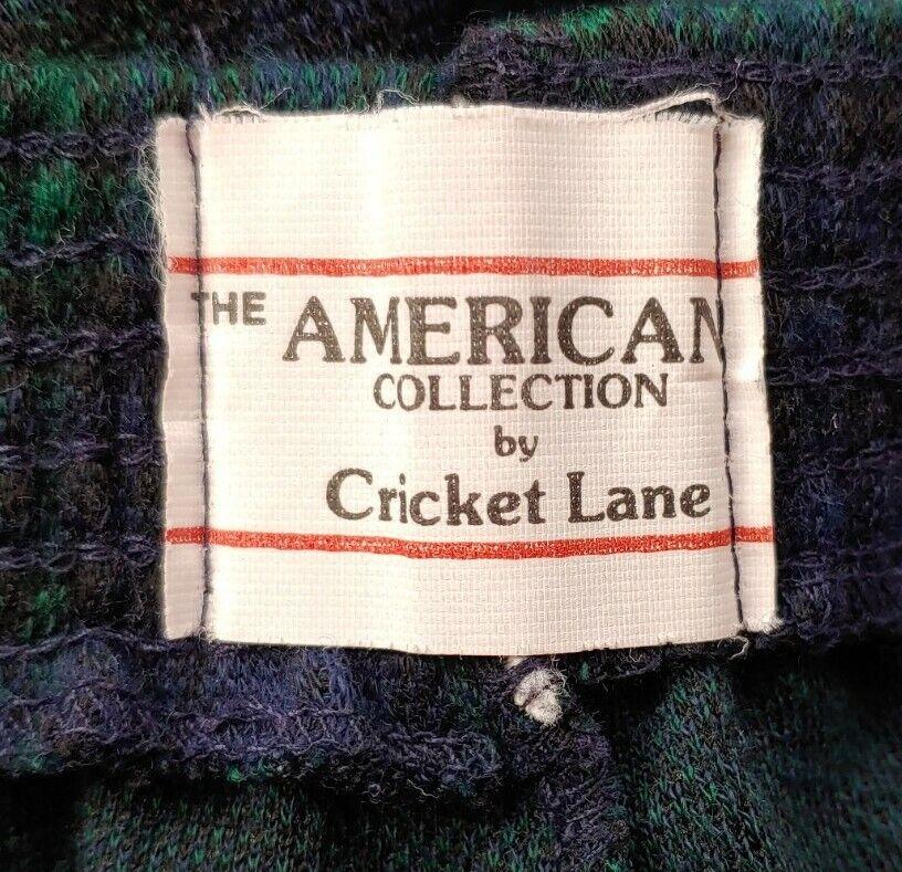 Vintage Navy & Green Plaid Knit Pants - image 6