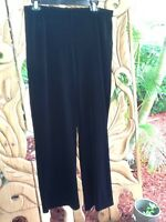 Peck & Peck Pants Wide Leg Lounge Black Velvet Size Xl Nwt$68