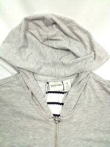 Chico's Zenergy Size1 Gray Color Women Sweater, Lightweight Hooded