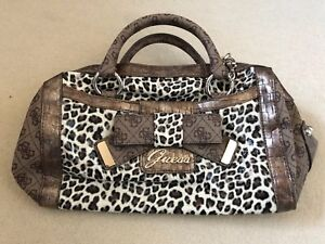 luipaardprint Guess met Bnwt en groot Authentiek handtas boogdetail w7UqFxX