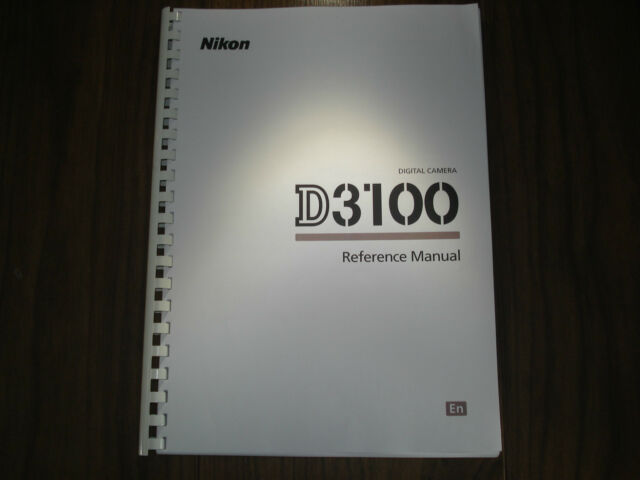 printed nikon d3100 user guide instruction manual a4 or handy a5 ebay rh ebay co uk nikon d3300 user manual online nikon d3100 user manual pdf free download