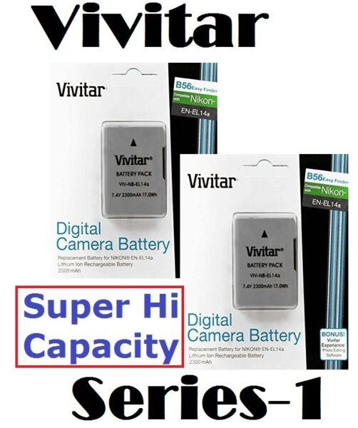 2300 Mah 2 Pièces En-el14a Batterie Li-ion Pour Nikon D5300 D3300