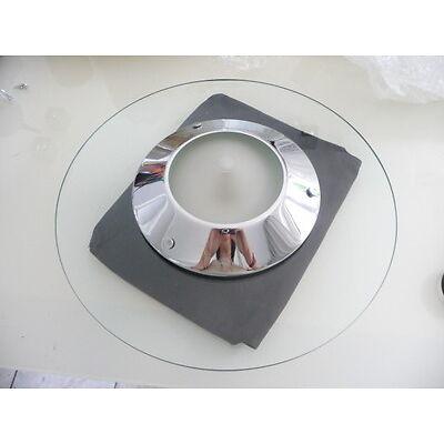 *TOP Moderne Deckenleuchte HILLEBRAND Design Glasrand chrom Halogen D=40 cm