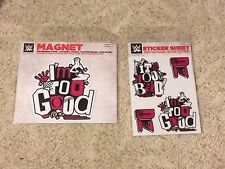DOLPH ZIGGLER WWE Authentic Lot of Sticker Sheet & Car Magnt BRAND NEW