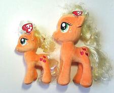 2017 Set of 2 Ty Beanie Babies My Little Pony  APPLEJACK Plush Stuffed f9cb0510eb4c