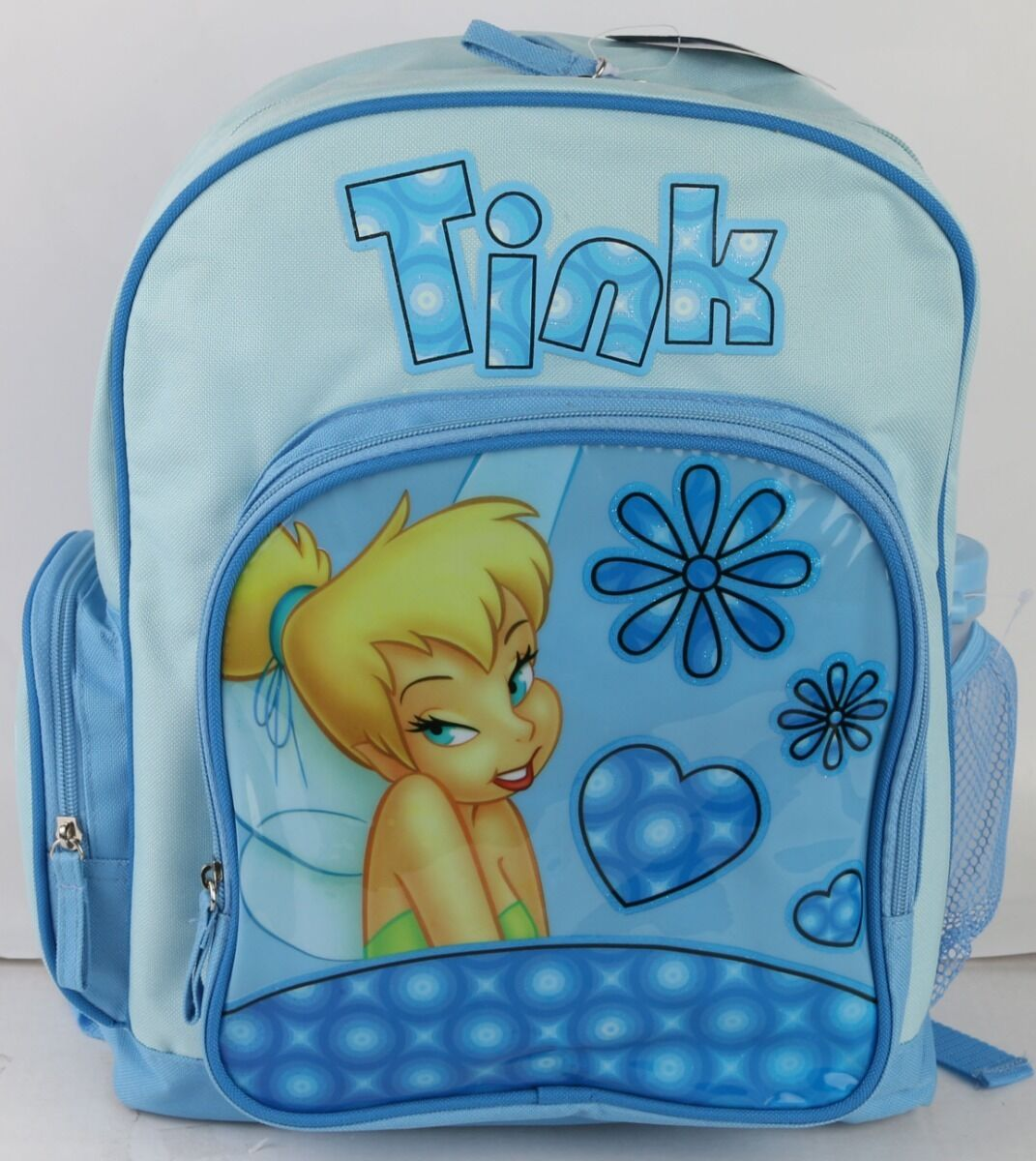 Adhyr Tinkerbell and Fairy Flying Black Backpack Zipper School Bag Travel Daypack Unisex Adult Teens Gift