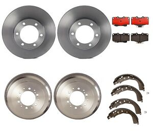 For Honda Civic Brake Kit Front Disc Rotors Ceramic Pads Rear Drums Shoes Brembo