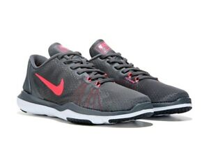 NIKE-FLEX-SUPREME-TR-DARK-GREY-HOT-PUNCH-7-5-M-NIB-80-WOMEN-TRAINING-SHOES