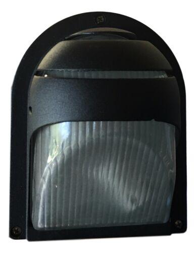 Black Wall Mounted Bunker Modern Outdoor LED Compatible Bulkhead House Light