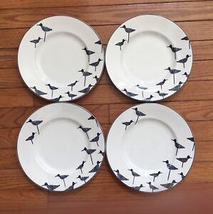 Image is loading Lenox-Kate-Spade-New-York-Wickford-SANDPIPER-Accent-  sc 1 st  eBay & Lenox Kate Spade New York Wickford SANDPIPER Accent Plates Set of 4 ...