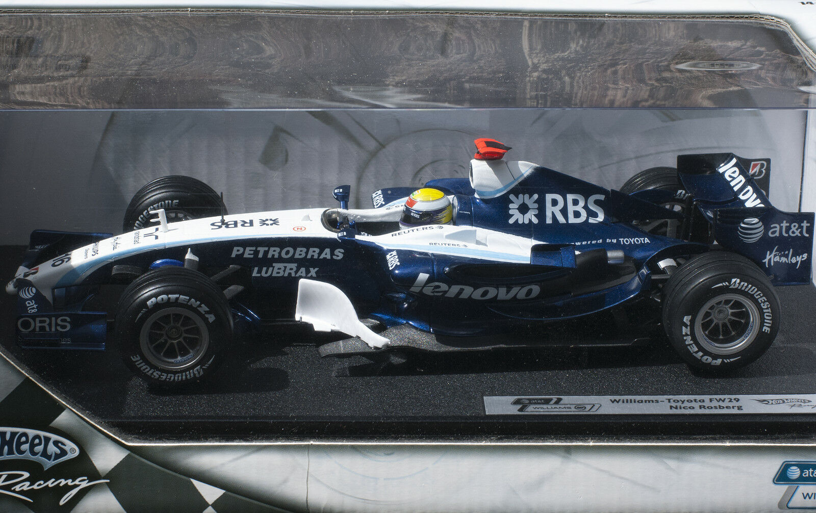 Nico Rosberg Williams-Toyota fw29, 2007, Hot Wheels, NUOVO + OVP