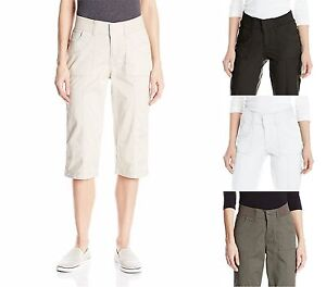 Women's Lee Relaxed Fit Skimmer Pants Capris Choose Size ...