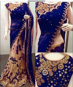 Indian Bollywood New Designer Saree Wedding Party Wear Pakistani