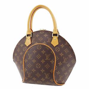 LOUIS-VUITTON-Ellipse-PM-Hand-Bag-Brown-Monogram-M51127-France-Authentic-SS217
