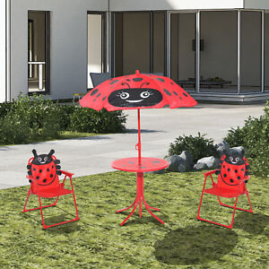 Image Is Loading Kids Garden Picnic Table Chair With Uv Umbrella