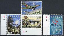Tuvalu 1993 Sg # 668-6711 Guerra En El Pacífico optd Modelo Mnh Set #a 86248