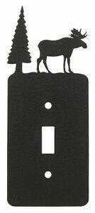 Moose-amp-Tree-Single-Switch-Plate-Black