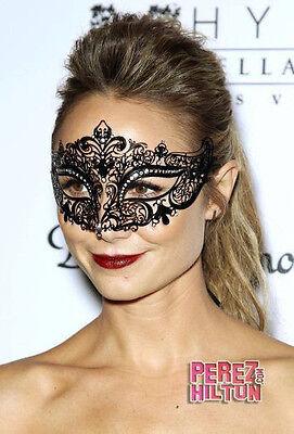 Wedding Prom MEP001BKGD Classic Black /& Gold Venetian Masquerade Mask Glitter Mask with Gold Laser Cut Metal Design Mardi Gras