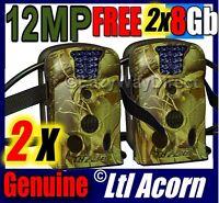 Bulk Buy 2 Ltl Acorn 12mp Hunting Farm Security Camera 940nm Lowglow Free 2x8gb
