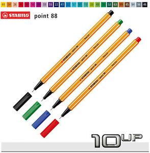Stabilo-Fineliner-Point-88-verschiedene-Farben-zur-Auswahl-Point88