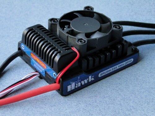 FUSION Hawk 100a HV OPTO sin escobillas ESC 14-36 NiMH  4-12 Lipo p-fs-hwk100