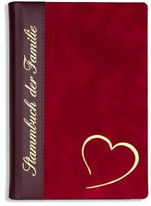 """Stammbuch der Familie /""""Ja/"""" rot A5 A4 Stammbücher Hochzeit Familienstammbuch"""