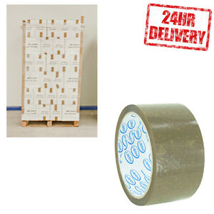 1 Pallet (90 Boxes) LIBRHI Brown Buff 48mm x 50m Parcel Packing Tape CLEARANCE