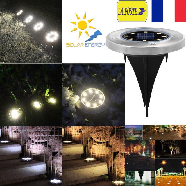 Acier Inoxydable Solaire Lumière enterrée de LED Lampe jardin Sentier Pelouse
