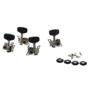 4Pcs-Ukulele-Guitare-petit-4-corde-Pinces-Mecaniques-2R-2L-Vis-incluses-Argent