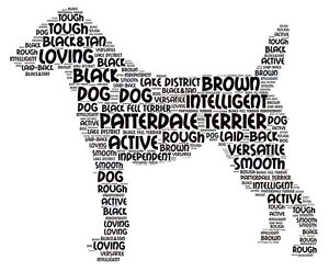Patterdale-Terrier-Art-Print-Word-Art-A4-A3-Mothers-Day-Gift-Personalised-Option