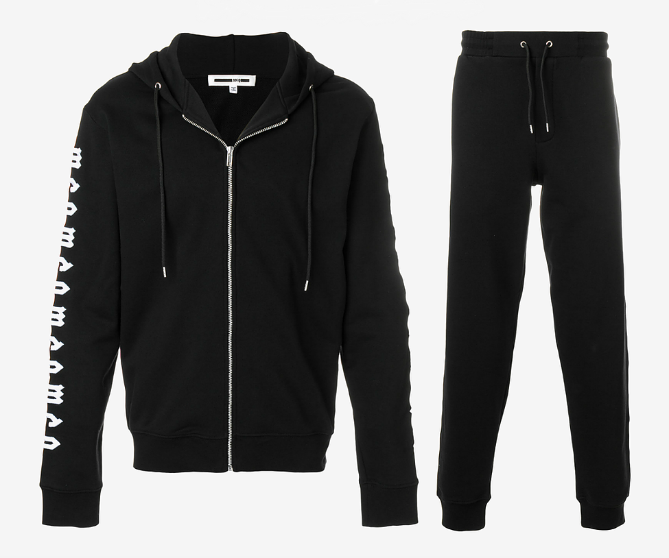 MCQ Alexander McQueen Repeat Logo Embroidered Tracksuit - Black and White