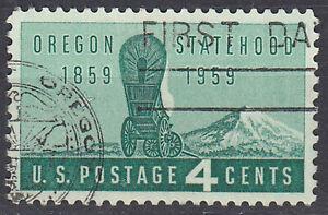 Estados-unidos-sello-con-sello-4c-Oregon-Statehood-1859-1959-sello-redondo-1555
