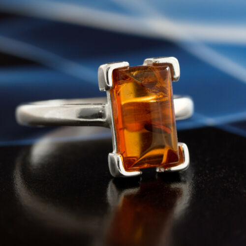 Bernstein Silber 925 Ring Sterlingsilber Damen Schmuck verschiedene Größen R111
