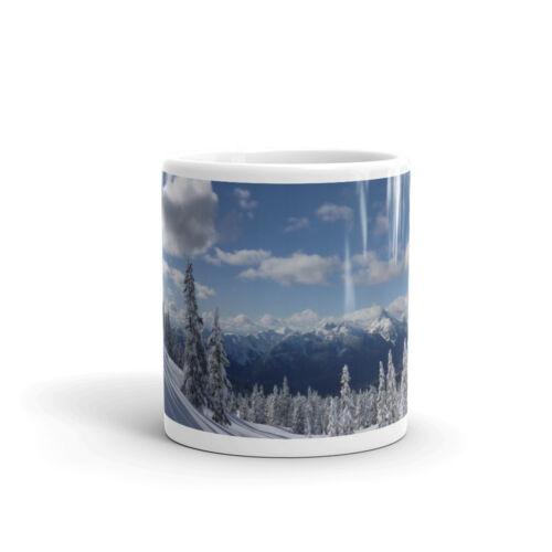Café Thé Tasse #8084 environ 283.49 g Mountain Snow scene Snowboard Ski-Haute Qualité 10 oz