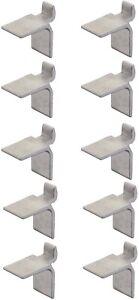 10x taquet étagère pour crémaillère aluminium support fixation attache armoire