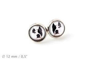 Amstaff. Pet in your ear. Earrings. Photojewelry. Handmade. CA - Zary, Polska - Amstaff. Pet in your ear. Earrings. Photojewelry. Handmade. CA - Zary, Polska