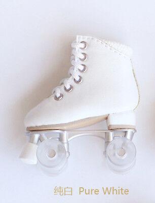 "SK COUTURE PURE WHITE  ROLLER SKATES FITS Fashion dolls 10/"" dolls 1//6 bjd"