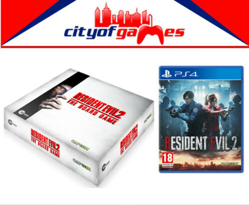 Resident Evil 2 PS4 Game /& The Board Game Bundle New