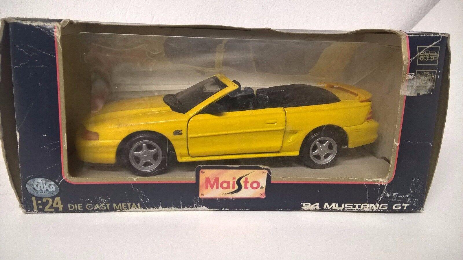 apresurado a ver MAISTO 1 24 1 25 25 25 FORD MUSTANG CABRIOLET GT '94 BOX  mejor calidad mejor precio