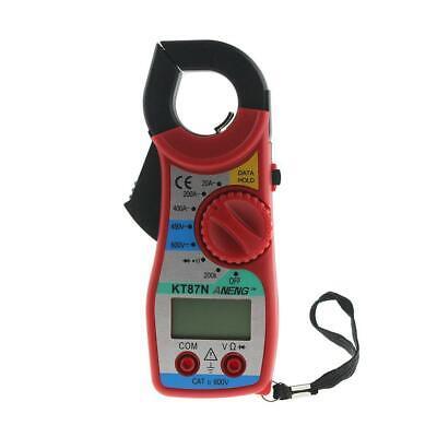 KT87N Digital LCD Clamp Multimeter Voltmeter Ammeter Ohmmeter Volt Tester //Neu
