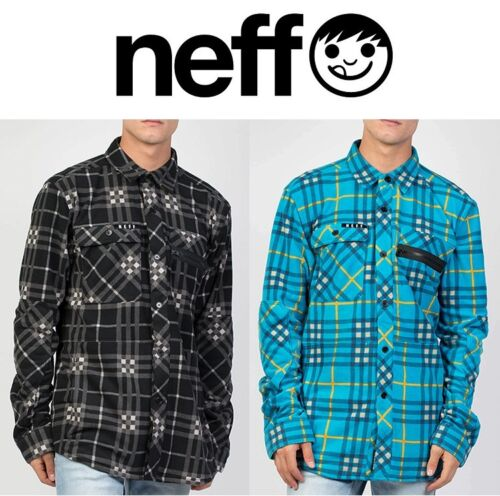 NEFF MEN/'S ENGINE FLANNEL SHIRT MANY SIZES BRAND NEW! BLACK // WHITE CHECK