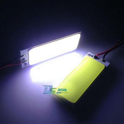 2 x 36 SMD T10 Car LED COB Panel Interior Festoon Dome Reading Light Bulbs Lamp