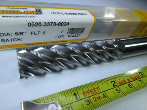"NEW 1//2/"" SOLID CARBIDE DURA-MILL 4/"" END MILL 6 FLUTE MILLING LONG LENGTH TOOL"