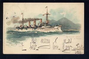 Germany-Shipping-Navy-SM-KREUZER-Gefion-u-b-PPC-1899