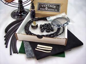 Deluxe-Antique-Fan-Restoration-Kit-Vintage-Rewire-GE-Emerson-Westinghouse