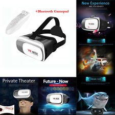 VR Headset Virtual Reality VR BOX Goggles 3D Glasses + Remote Controller