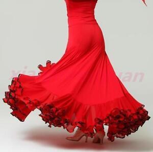New Dance Ballroom Waltz Modern tango Flamenco Dancewear Salsa Skirt Latin Dress